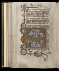 Historiated Initial To Psalm 101 With Scenes From The Life Of David, In The Egerton Bohun Psalter-Hours